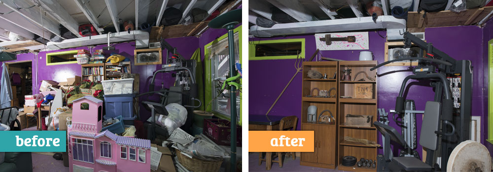 Home Organizing Services, Before and After Example